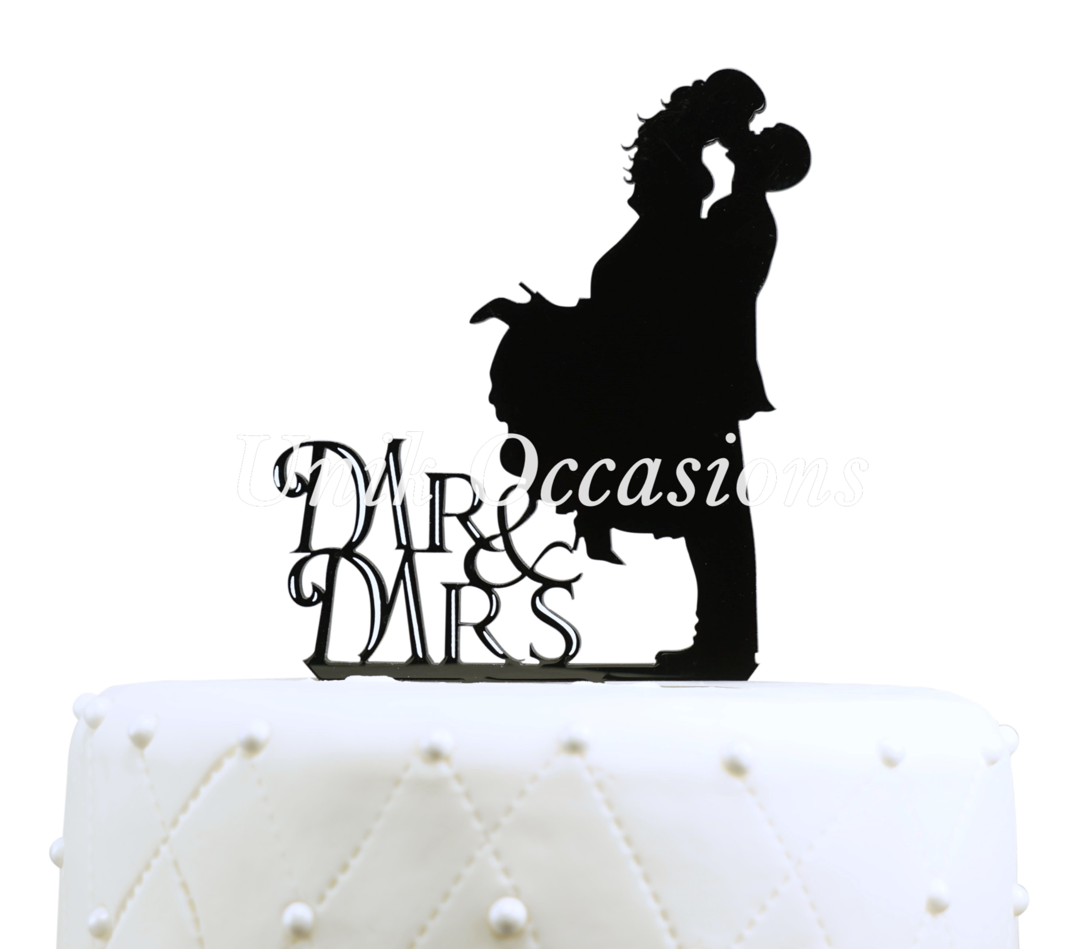 Wedding Cake Toppers With Silhouette